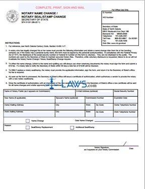 Form SFN 51261 Name Change