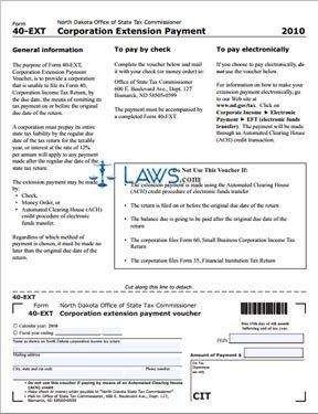 Form 40-EXT Corporate Extension Payment Voucher