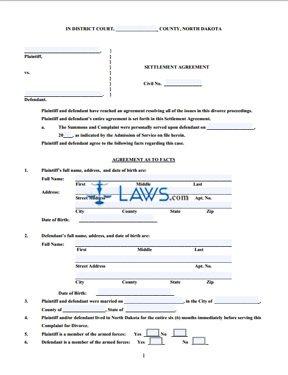 Form Settlement Agreement