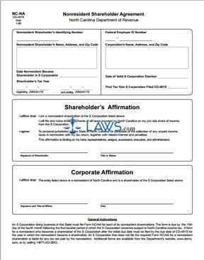 Form NC-NA Nonresident Shareholder Agreement