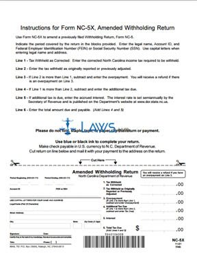 monthly withholding tax return form