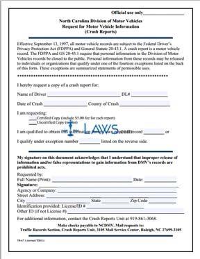 Form TR-67A Crash Report Request Form