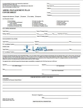 AHERA Management Plan Cover Sheet 3531