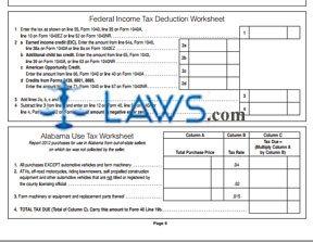 Form 40 Alabama Individual Income Tax Return Instructions ...