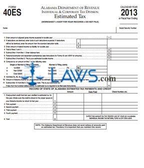 Form 40ES Estimated Income Tax Payment Voucher Instructions