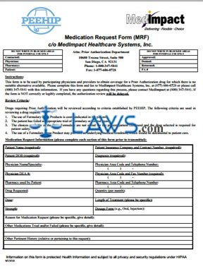 MedImpact Prior Authorization Request Form