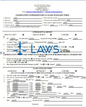 WC Combination Supplementary and Claim Summary Form