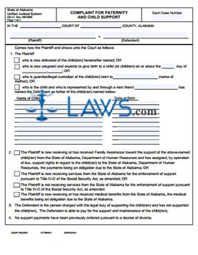 Form CS-12 Complaint For Paternity And Child Support