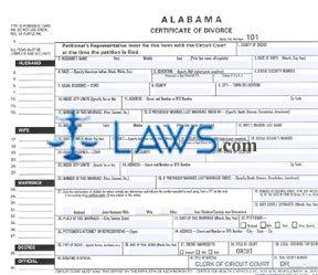 Form Certificate of Divorce