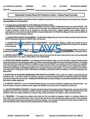 Defendant Guide Sheet