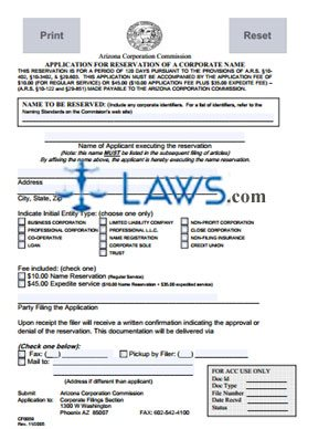 Form CF0059 Application for Name Registration
