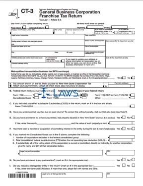 Form CT-3 General Business Corporation Franchise Tax Return