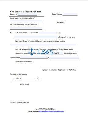 Form Name Change Consent