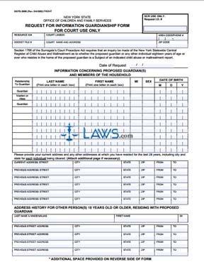 Form OCFS-3909 Request for Information Guardianship