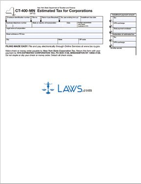Form CT-400-MN Estimated Tax for Corporation
