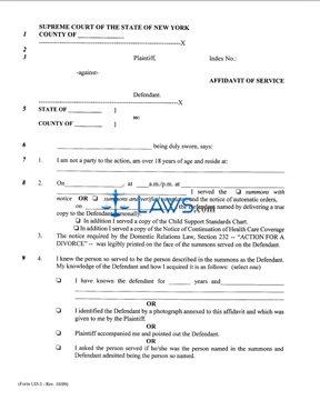 form ud 3 affidavit of service new york forms. Black Bedroom Furniture Sets. Home Design Ideas