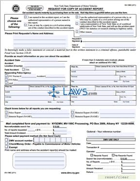 Form MV-198C Request for Copy of an Accident Report
