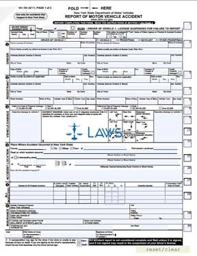 Form mv 104 report of motor vehicle accident new york for Commonwealth of massachusetts motor vehicle crash report