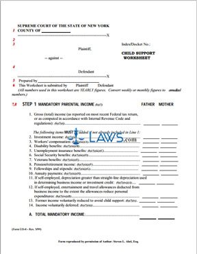 Printables Child Support Worksheet Ny form ud 8 child support worksheet new york forms laws com worksheet