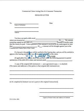 Form UCS-124 Demand Letter