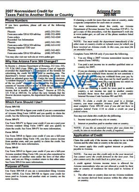 Form 309R Credit for Taxes Paid to Another State or Country Instructions