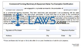 Commercial Farm Exemption Certificate ST-403 - Arkansas Forms ...