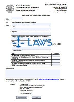 Brochure & Publication Order Form