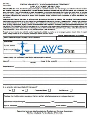 Form RPD-41071 Application for Refund