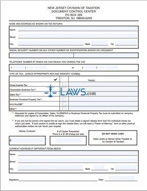 Form DCC-1 Tax Copies Request
