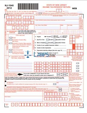 Form NJ-1040 Income Tax Resident Return