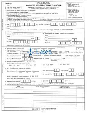 Form NJ Business Registration Application - New Jersey Forms ...