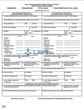 Form REG-77 Application for License