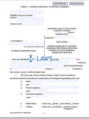Form 10558 Becoming a Legal Guardian Packet