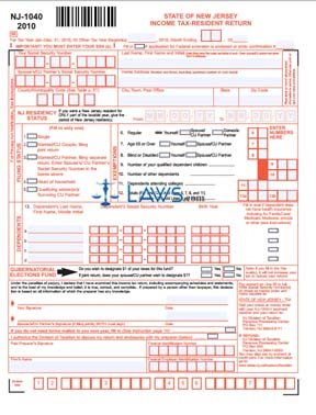 Form NJ-1040 NJ Resident Income Tax Return - New Jersey Forms ...