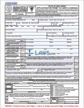 Form Application for Permit To Carry A Handgun