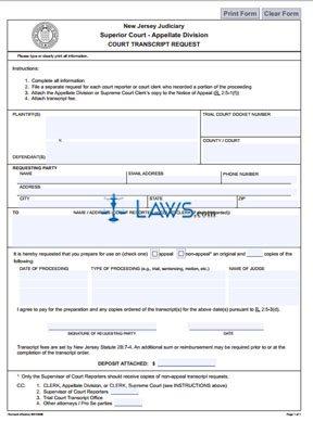 Court Transcript Request