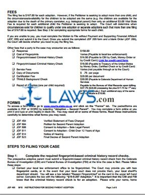 Instructions for Second Parent Adoption
