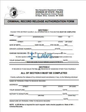 Form DSSP256 Criminal Record Release Authorization Form