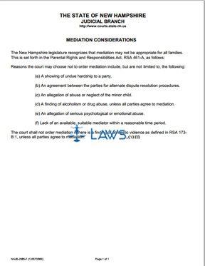 Mediation Considerations