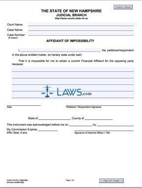 Affidavit of Impossibility