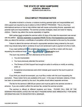 Child Impact Program Notice