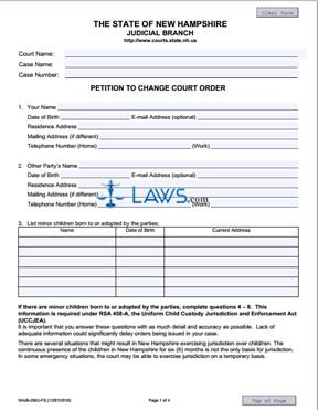 Petition to Change Court Order