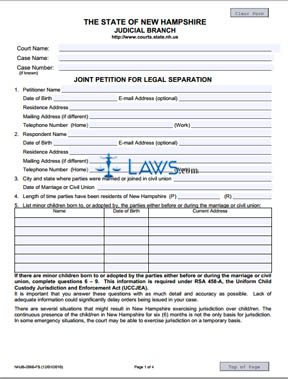 Joint Petition for Legal Separation