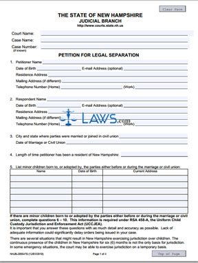Petition for Legal Separation