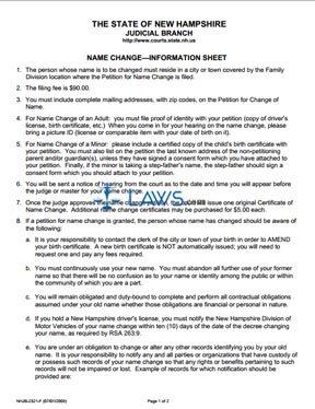 Name Change Information Sheet
