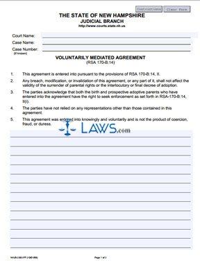 Voluntarily Mediated Agreement