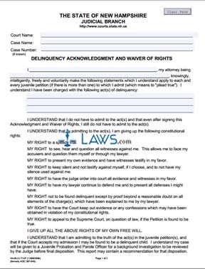 Delinquency Acknowledgment and Waiver of Rights