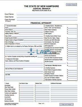 Financial Affidavits