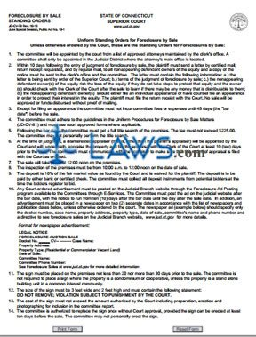 Form JD-CV-79 Foreclosure By Sale, Standing Orders