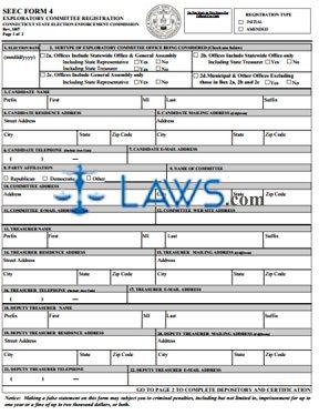 SEEC Form 4 Exploratory Committee Registration